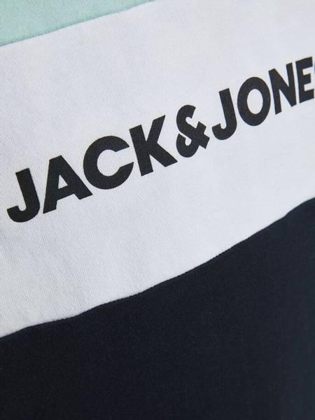 Bilde av JjeLogo blocking sweat hood - Bleached Aqua