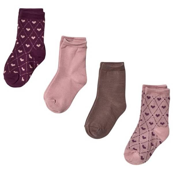 Bilde av NitWak wool 4 pack sock mini - Woodrose