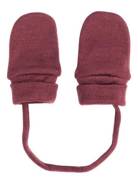 Bilde av NbfWillit wool mittens wo/thumb - Red Mahogany