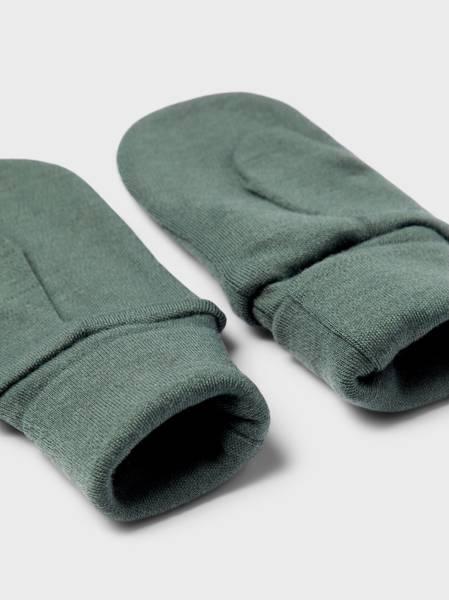 Bilde av NmmWillit wool mittens w/thumb - Duck Green